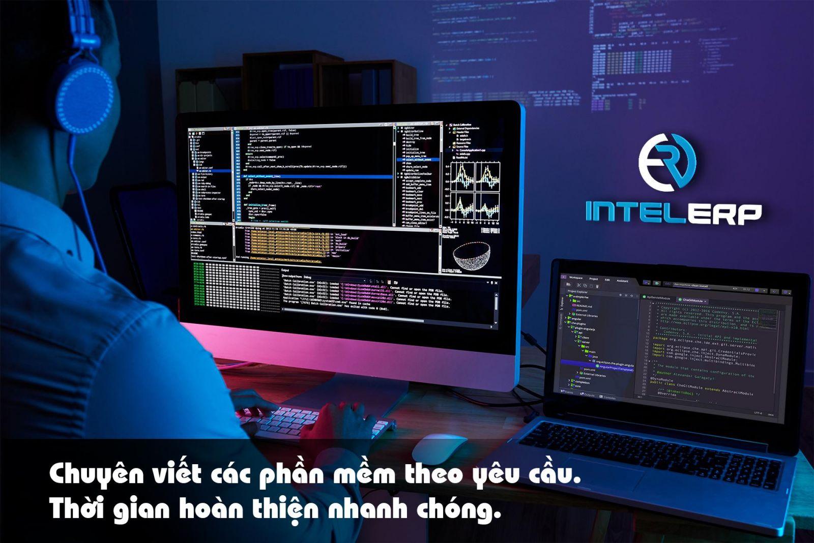 INTELERP SOFTWARES chuyên viết phần mềm theo yêu cầu, thời gian hoàn thiện nhanh chóng